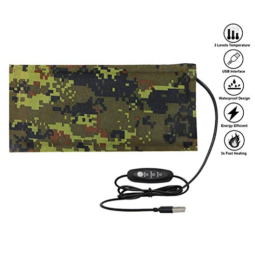 (Reptile Tank Heating Pad - USB Reptile Under Tank Heat Mat Waterproof Terrarium Heater Reptile Heated Pad for Lizard, Gecko, Bearded Dragon, Chameleon, Corn Snake, Spider, Hermit Crab)