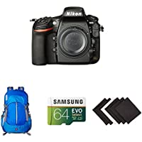 Nikon D810 FX-format Digital SLR Camera Body w/ AmazonBasics Accessories