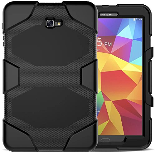 - Galaxy Tab A 10.1 SM-T580 Case, Shockproof dust-proof hard armor Heavy Duty design with Kickstand Protective Case For Samsung Galaxy Tab A 10.1'' (SM-T580 / SM-T585) (2016 Release) (Black)