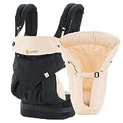 Ergobaby Bundle - 2 Items: Black/Camel 4 Position 360 Carrier with Natural Infant Insert