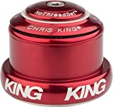 Image of Chris King InSet 3 Tapered Headset with Griplock Red, One Size
