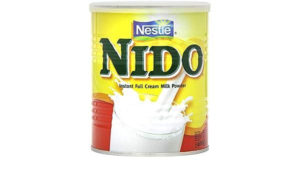 Nestlé Nido Leche en Polvo Entera - Crema Instantánea para Bebidas ...