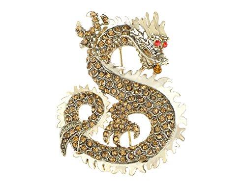 Alilang Mythical Ancient Asian Chinese New Year Zodiac Dragon Novelty Celebration Party Brooch Pin (Year Dragon Zodiac)