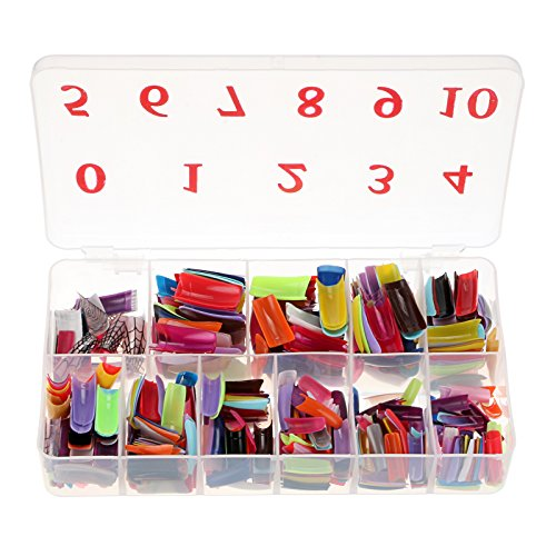 (Baisidai 540 Pcs 27 Color French False Acrylic Gel Nail Art Tips Half with Box Salon Set)