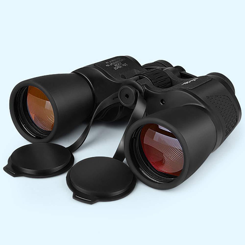 LUYION 10-30X50 Binocular BAK4 Telescopio Impermeable con Recubrimiento de /ámbar para Viajes de Turismo