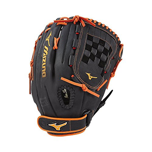 Mizuno MVP Prime SE Fastpitch GMVP1300PSEF6 Outfield/Pitcher Models Gloves, Black/Orange