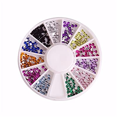12 Color Nail Art Rhinestones 3D Glitter Fingernails Decorations DIY Nail Accessories Tools