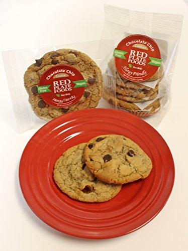 Red Plate Foods Soft Cookies Variety Pack, Nut Free, Gluten Free, Vegan/Dairy Free, 16 Individual Cookies 2.2 oz each (4 of each flavor)