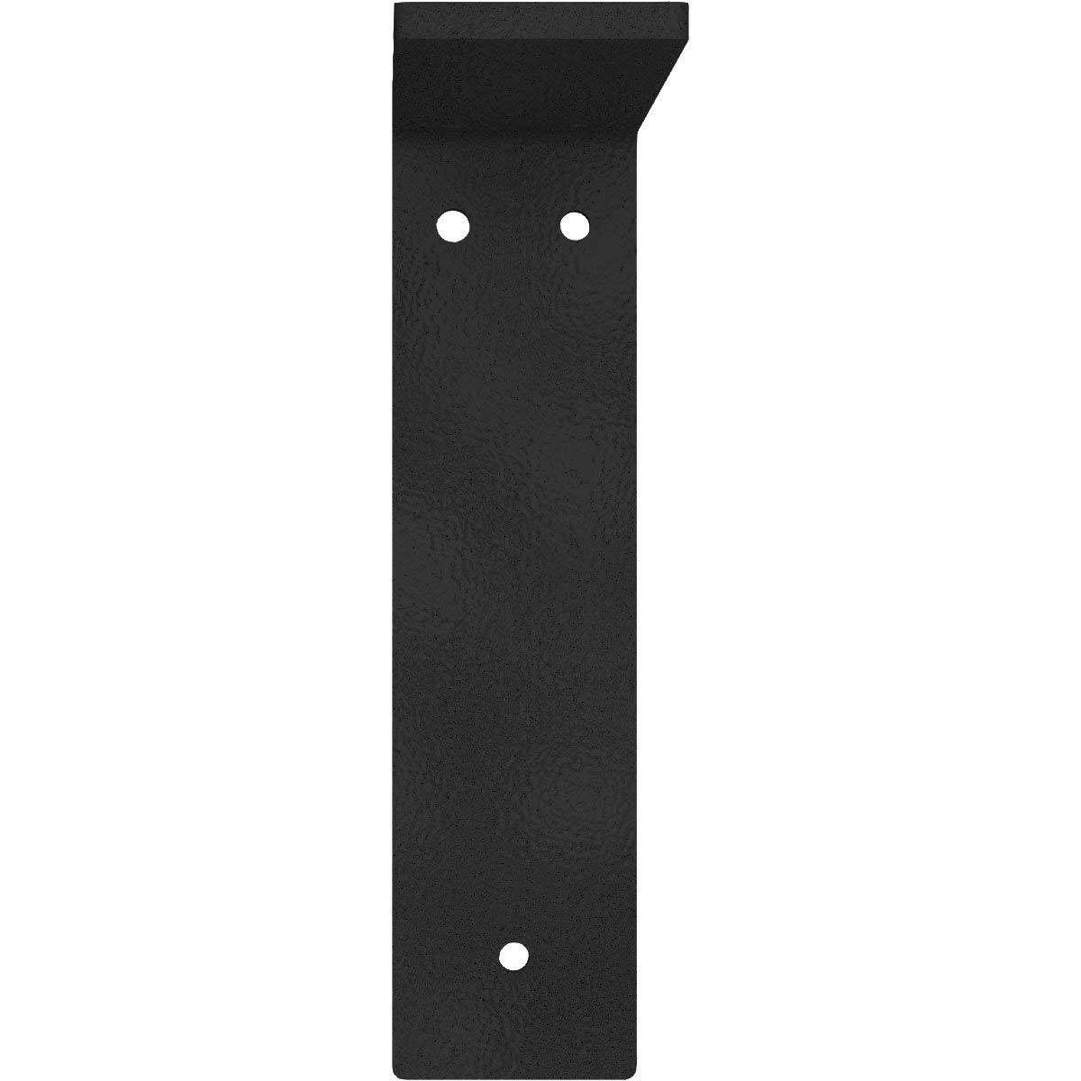 Ekena Millwork BKTM02X08X08HAHBL 2 W D x 8 H Hamilton Steel Bracket Hammered Black Renewed 2 Wx 8 Dx 8