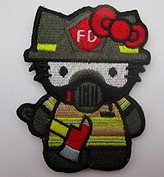 Hello Kitty bombero – táctica parche de brazaletes con tiras de velcro Patch