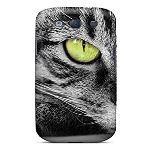 For Galaxy Case, High Quality Animals Cats Cat With Green Eyes For Galaxy S3 Cover Cases