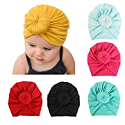 6 Pieces Adorable Baby Knot Headbands Newborn Elastic Sretch Head Wrap Baby Hat (A)