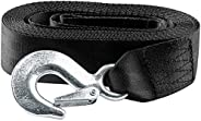 """Big-Autoparts Black Trailer Winch Replacement Strap 2"""" x 20' and Safety Hook for Large Boats, Jet Ski"""