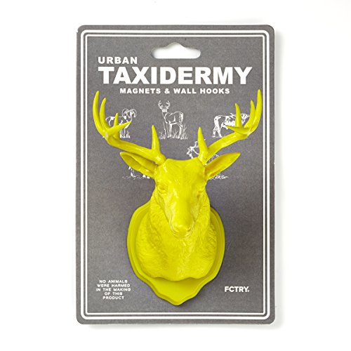 [Urban Taxidermy Magnet and Wall Hook Deer - Yellow] (Firefly Kids Costumes)