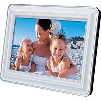 jWIN JP127 7-Inch LCD Digital Picture Frame (White)