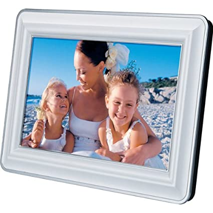 Amazon.com : jWIN JP127 7-Inch LCD Digital Picture Frame (White ...