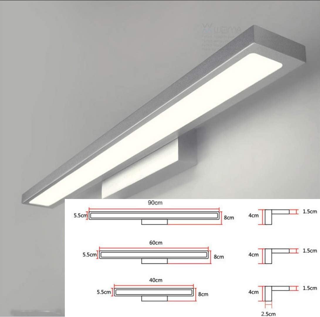 UMOOIN LED-Spiegelleuchte Bad IP44 Aufputz neutralwei/ß Badezimmerspiegel 230V Wand-mountedlight Klemmleuchte Spiegelschrank Licht Toilette,Schwarz,18w//900mm