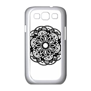 Samsung Galaxy S3 9300 Cell Phone Case White Floral Mandala Black BCF Rugged Equipment Cell Phone Cases