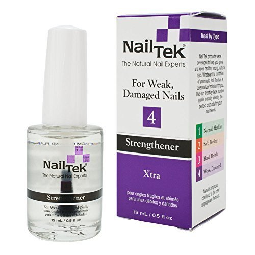 NailTek Xtra 4 Strengthener for Weak Damaged Nails 0.5oz
