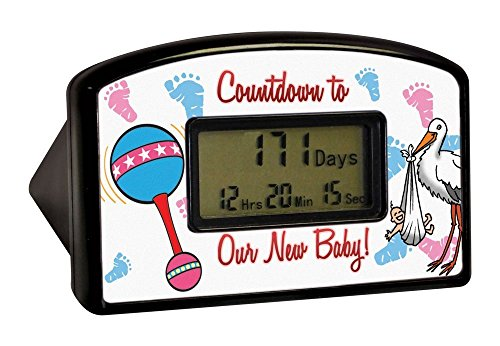 BigMouth Inc Countdown Timer - New Baby (Blister) New Years Countdown Clock