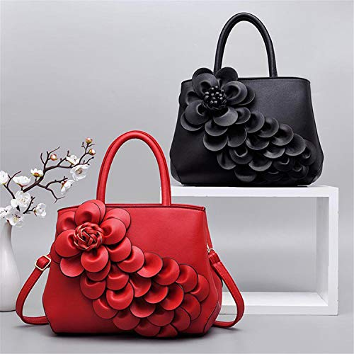 Love Constructs Bandoulière Série Cuir Sac Fleurs En Art Rouge À Lavande Sauvage Chance Main Messenger Noir Sacs Pu De Femme fwfZrqITxz