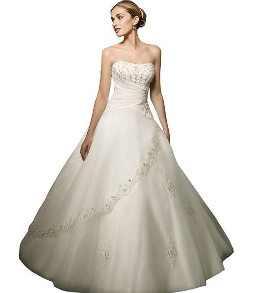 babycat Collection Mujer vestido de novia boda vestido vestido para novia blanco o crema beige 54