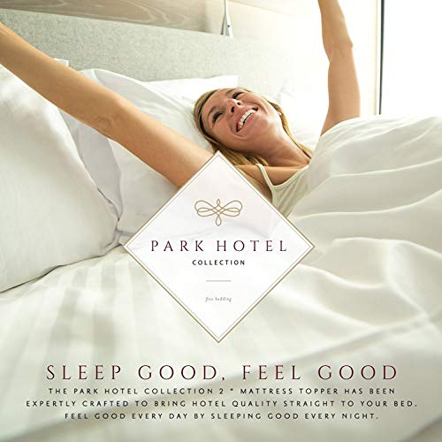 Park Hotel Collection 2 Inch Down Alternative Featherbed Mattress Topper - Ultra Plush 100% Long-Staple Cotton 2'' Pillowtop Bed Topper/Pad - Hypoallergenic - Twin by Park Hotel Collection (Image #2)