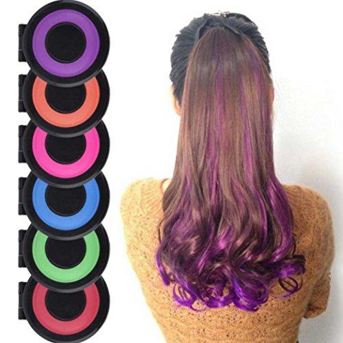 Fabal 6 Color Fashion Hair Powder Colors Hair Dye Temporary Hair Chalk Powder (Multicolour)
