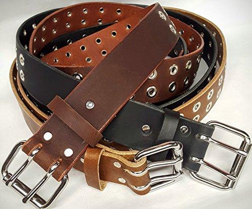 Double Metal Grommets Leather Belts