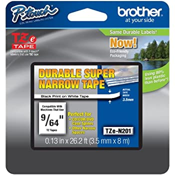 Amazon.com: Brother Non-Laminated 9/64 Inch Tape in Retail