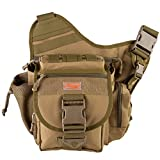 Piscifun Fishing Tackle Bags Single Shoulder Bags, Coyote Tan