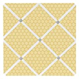 Sweet Jojo Designs Yellow and White Fabric Memory/Memo Photo Bulletin Board for Honey Bumble Bee Collection
