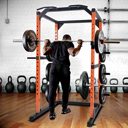 Merax Weight Cage Power Rack 1000 LBS Weight Capacity Weight Cage Power Rack Home Gym