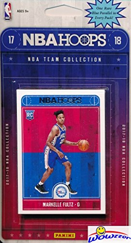 fan products of Philadelphia 76ers 2017/18 Panini Hoops NBA Basketball EXCLUSIVE Factory Sealed Limited Edition 11 Card Team Set with Ben Simmons, Joel Embiid, Markelle Fultz ROOKIE & More! Shipped in Bubble Mailer!
