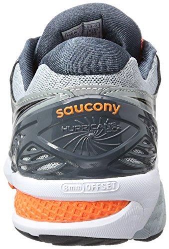 Saucony Heren Orkaan Iso 2 Loopschoen Grijs / Charcoal / Oranje