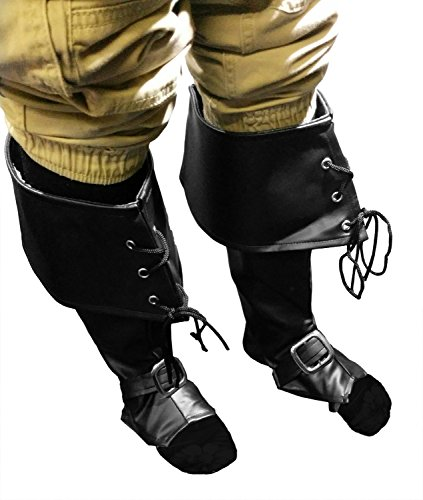 Kids Black Boot Covers