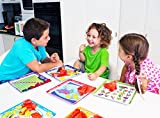 Educational Mealtime Plates for Kids, Set of 4 Unique Designs; Fun and Colorful Sturdy Melamine Plates for Children of All Ages; BPA Free