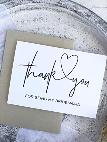 (Thank You For Being My Bridesmaid Wedding Day Card,Gift Ideas For Bridesmaids)