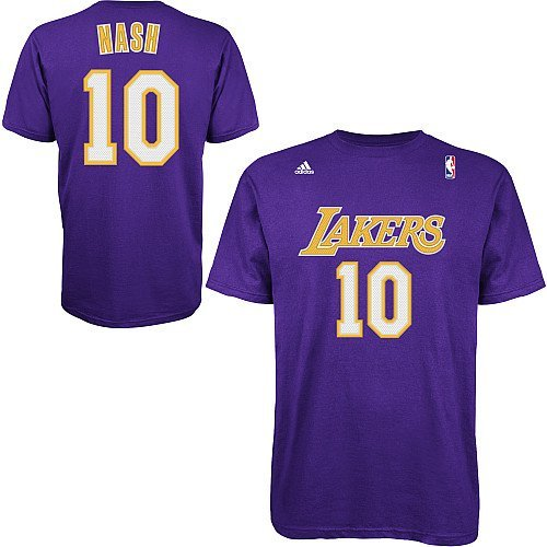 ... Steve Nash Los Angeles Lakers Purple Jersey Name and Number T-shirt  XX-Large ... 19c2d41ed
