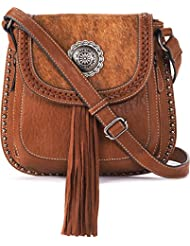 Blazin Roxx Womens Ella Style Faux Calf Hair Messenger Bag