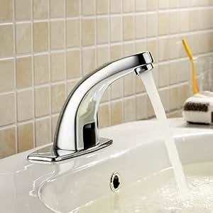 Lightinthebox deck mount solid brass auto sensor bathroom for Llaves de agua para lavabo