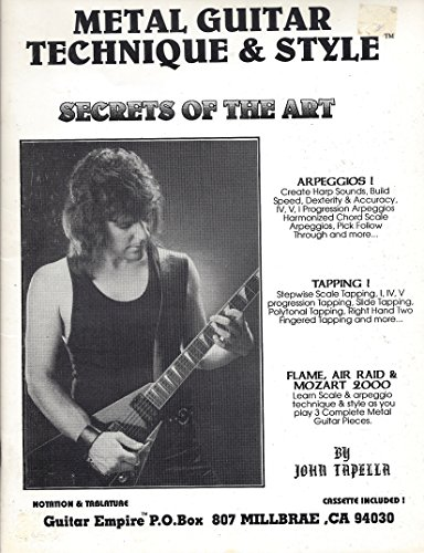 (1991 Metal Guitar Technique and Style Secrets of the Art. No Cassette. Original 1991 Out Of Print. John Tapella)