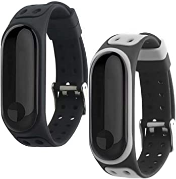 T-BLUER Xiaomi Mi Band 3 Bands, Silicone Colorful Replacement Strap Wristband for Xiaomi Miband 3/Mi Band 4 with Clasps Fitness Band Suitable to, No ...