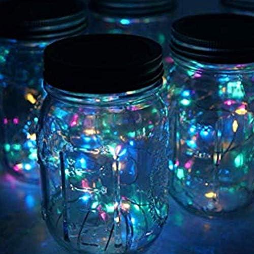 Nfudishpu Solar Einmachglas Lichter, wasserdichte Glas Fairy Hanging Lighting, Solar Hanging Light Für Außen- und Gartendekoration