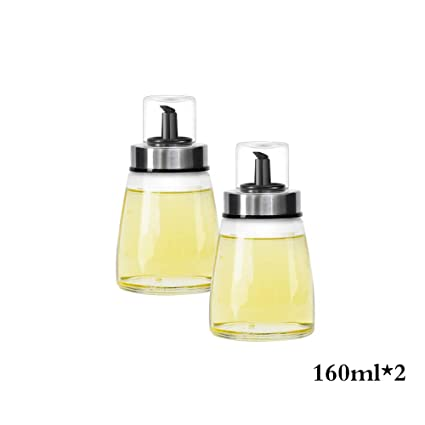 Botella de Aceite Botella de vinagre a Prueba de Fugas de Vidrio Gran dispensador de condimento