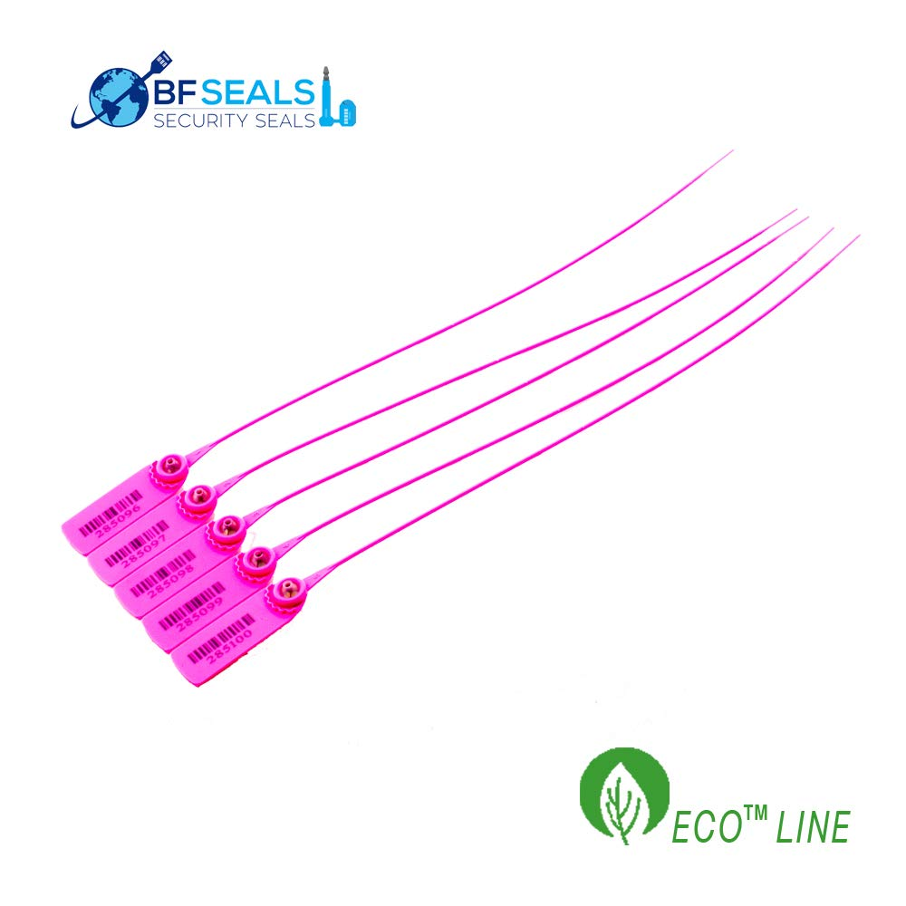 Correlative Numbered 100 Pcs Pink Color Pull-Tight Eco-Plastic Security Seal 15