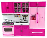 happy kitchen sets - My Happy Kitchen Stove Sink Refrigerator Battery Operated Toy Doll Kitchen Playset w/ Lights, Sounds, Perfect for Use with 11-12