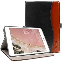 iPad Mini 4 Case,BOBOLEE Vintage Folio Flip Leather Case with Stand Feature, Smart Cover Auto Sleep / Wake Function for Apple iPad Mini 4, 7.9 inch Apple Tablet(Black-Brown)