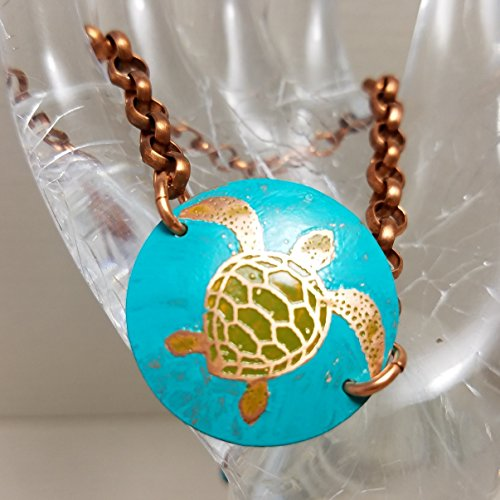 Etched Copper Sea Trutle Bracelet (Recycled Copper Bracelet)