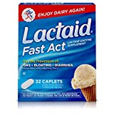 Lactaid Fast Act Lactose Intolerance Relief Caplets with Lactase Enzyme, 32 Travel Packs of 1-ct.